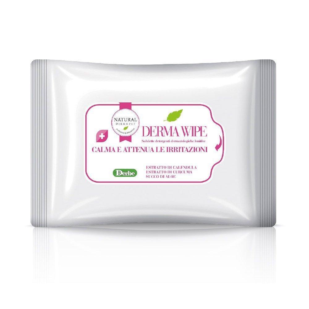 Derma Wipe - Salvietta detergente per cani che calma e attenua le irritazioni