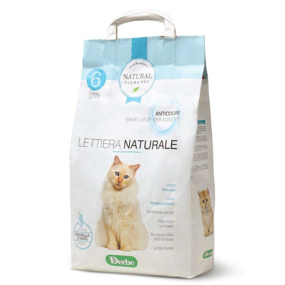 Lettiera naturale anti odore per gatti - Natural Derma Pet