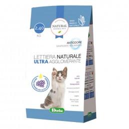 Lettiera naturale ultra agglomerante Natural Derma Pet con micro granuli ad alta assorbenti