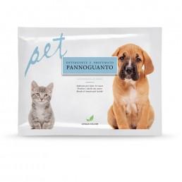 Pannoguanto per cani al profumo di talco - Natural Derma Pet