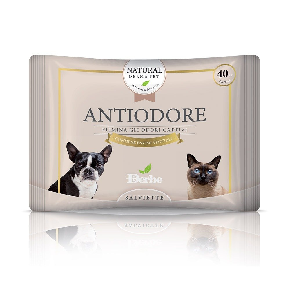 Salvietta anti odore per cani e gatti - Natural Derma Pet