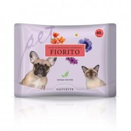 Salvietta per cani e gatti prato fiorito - Natural Derma Pet