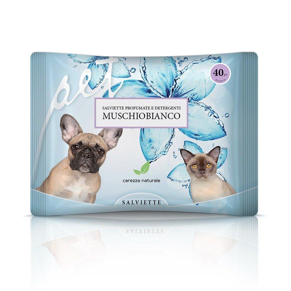 Salvietta per cani e gatti al muschio bianco - Natural Derma Pet