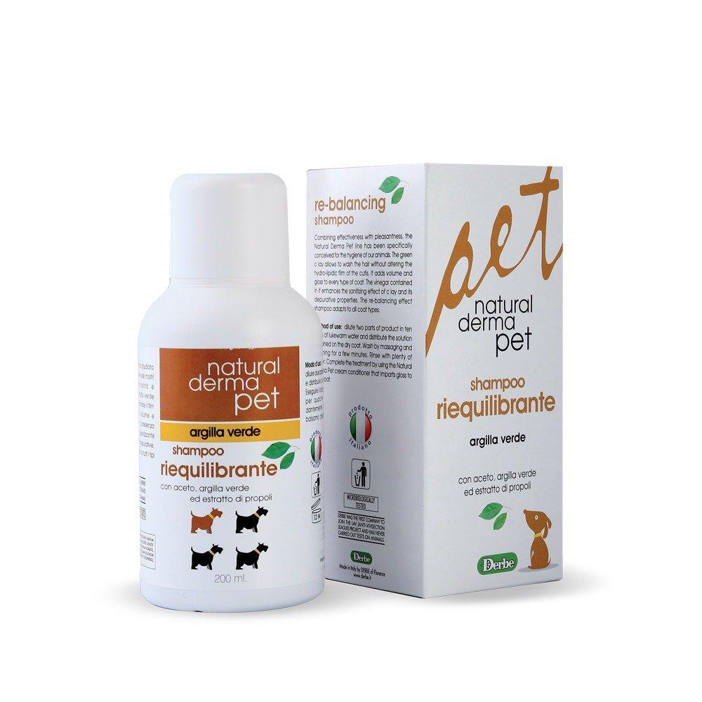 Shampoo per cani riequilibrante con argilla verde - Natural Derma Pet