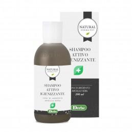 Shampoo attivo igienizzante per cani con ioni di argento e argilla nera